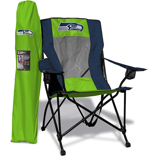 Front of Rawlings Blue and Bright Green NFL Seattle Seahawks High Back Chairs With Team Logo SKU #09211085518