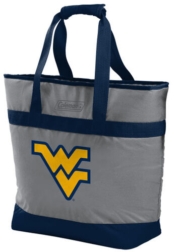 Rawlings West Virginia Mountaineers 30 Can Tote Cooler In Team Colors With Team Logo On Front SKU #07883114111