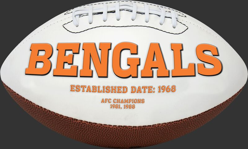 White NFL Cincinnati Bengals Football With Team Name SKU #06541063811