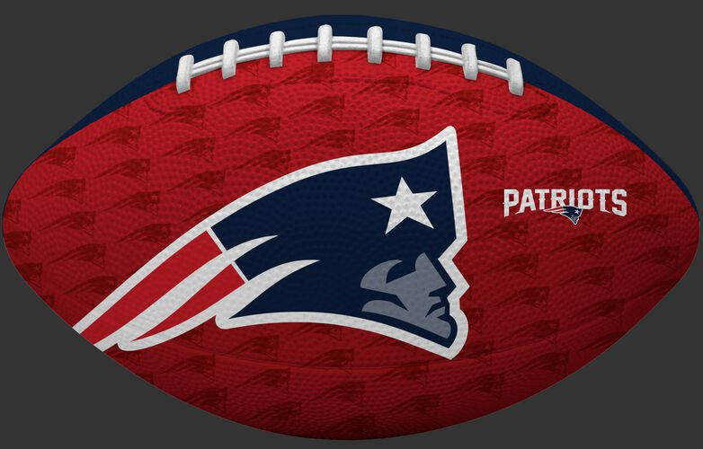 Red side of a NFL New England Patriots Gridiron football with the team logo SKU #09501076121