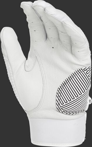 White palm of a white WH950BG-W Workhorse batting glove
