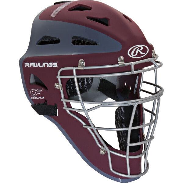 Velo Youth Catchers Helmet Cardinal/Gray