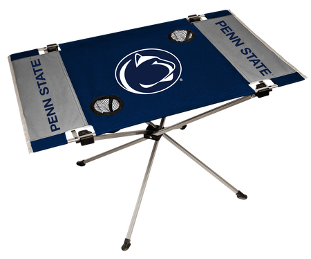 NCAA Penn State Nittany Lions Endzone table featuring team colors, team logos and two cup holders