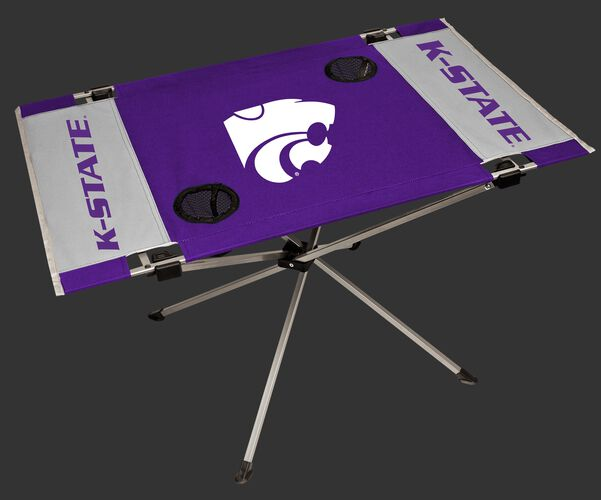 NCAA Kansas State Wildcats Endzone table in team colors with a team logo in the middle and two cup holders SKU #04053033111