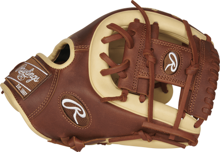 PRO314-2CTI Heart of the Hide 11.5-inch I web glove thumb view with a timberglaze I web