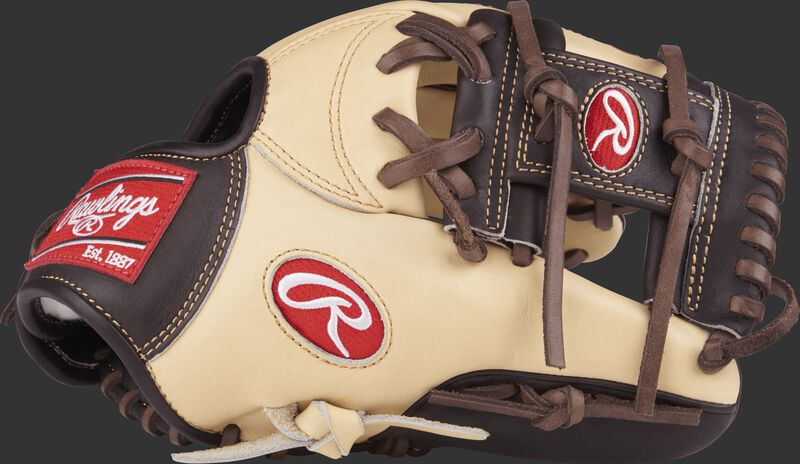 PROSNP4-2CMO Pro Preferred 11.5-inch infield glove with a camel/mocha thumb and a mocha I web