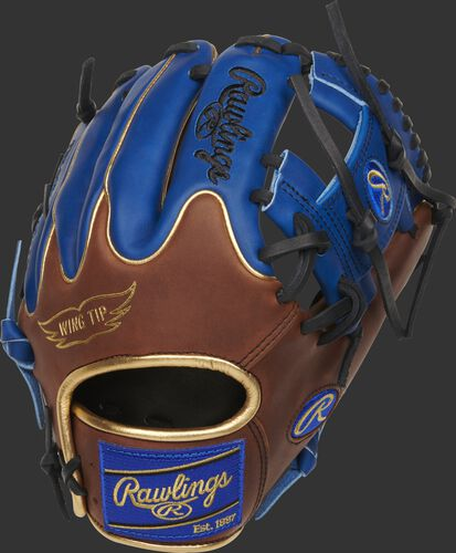 PRO204W-2TIR Heart of the Hide 11.5-Inch infield glove with royal fingers and a timberglaze Wing Tip back