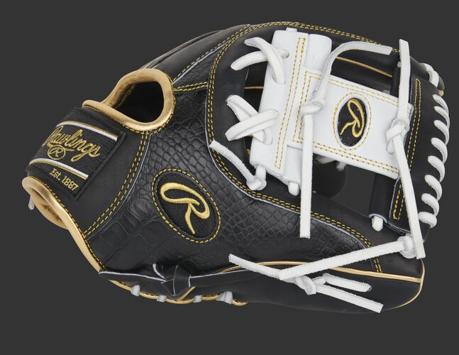 Thumb pf a black 11.5-Inch HOH exclusive infield glove with a white I-web - SKU: PRO204-2BCW