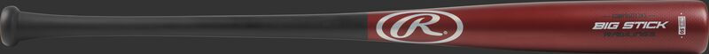R243CS Big Stick Adult wood composite bat with a red barrel and black handle
