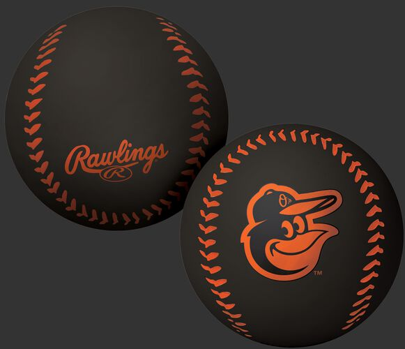 Rawlings Baltimore Orioles Big Fly Rubber Bounce Ball With Team Logo on Front In Team Colors SKU #02870018112