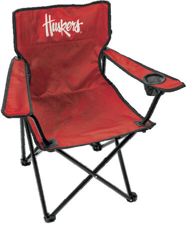 Front of Rawlings Red NCAA Nebraska Cornhuskers Gameday Elite Quad Chair With Team Logo SKU #00563089111