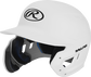 Left angle view of a MACHEXTL Rawlings Mach EXT Junior helmet with a one-tone matte white shell image number null
