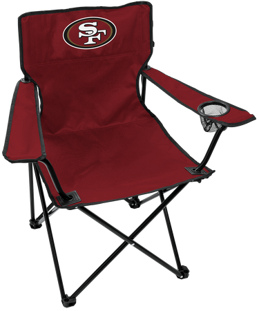 NFL San Francisco 49ers Gameday Elite Chair with team colors and logo on the back