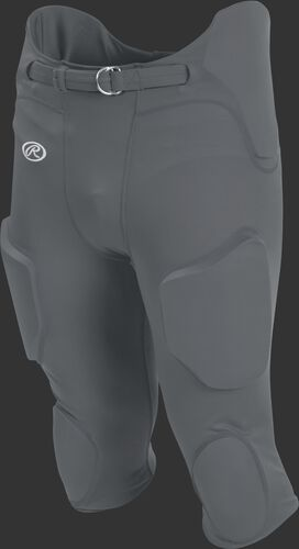 Front of Rawlings Gray Youth Lightweight Football Pants - SKU #YFPL