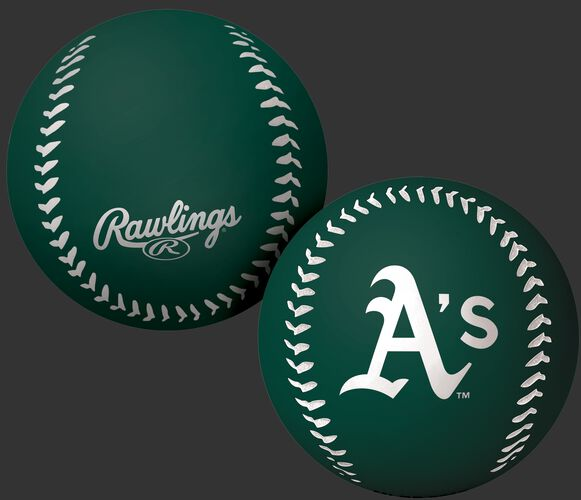 Rawlings Oakland Athletics Big Fly Rubber Bounce Ball With Team Logo on Front In Team Colors SKU #02870003112