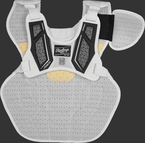 Back harness of a black CMPCNI Intermediate Mach chest protector