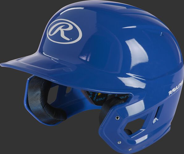 Left angle view of a royal MCC01 Mach ventilated gloss helmet