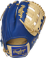 Royal back of a Heart of the Hide ColorSync 5.0 11.75-Inch H-web glove with a royal Rawlings patch - SKU: PRO205-6CRG image number null