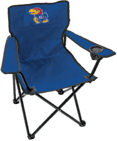 Front of Rawlings Blue NCAA Kansas Jayhawks Gameday Elite Quad Chair With Team Logo SKU #00563034111