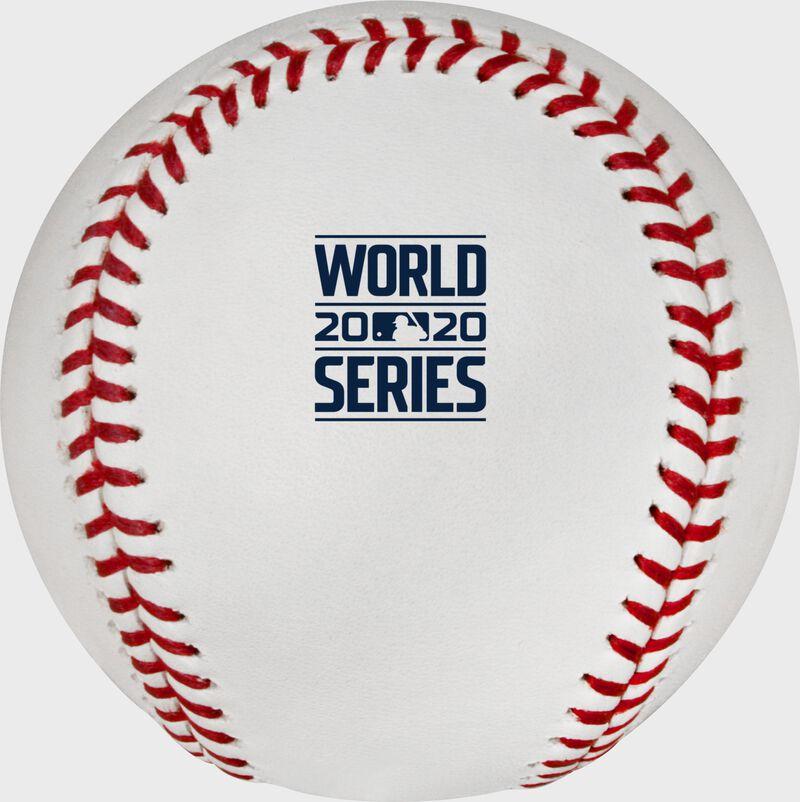 2020 World Series logo printed on a Major league baseball - SKU: EA-WSBB20-R
