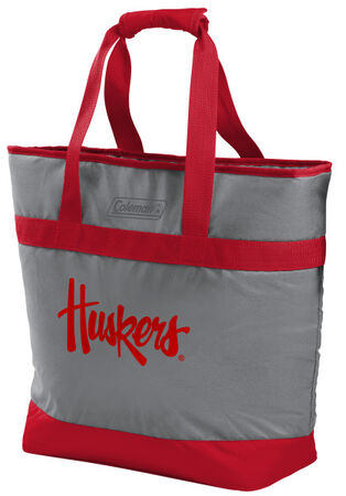Rawlings Nebraska Cornhuskers 30 Can Tote Cooler In Team Colors With Team Logo On Front SKU #07883089111