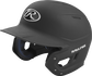 Left angle view of a Rawlings MACH Junior helmet with a one-tone matte black shell