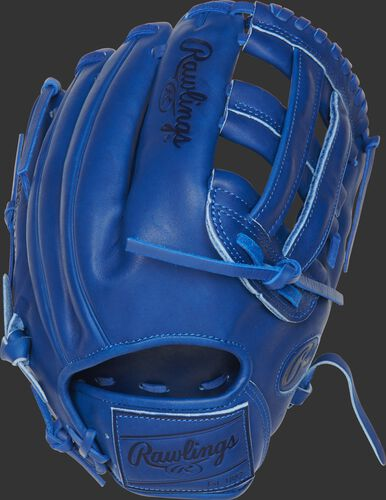 PROKB17-6R 12.25-Inch Heart of the Hide Pro Label glove with a royal back and leather patch