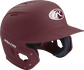 Right angle view of a matte MACH batting helmet with a maroon shell image number null