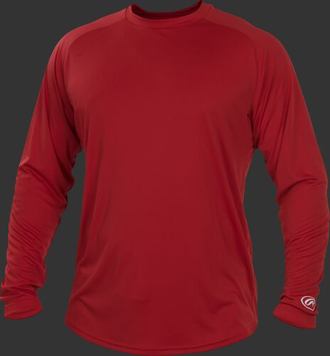 Scarlet LSRT Adult crew neck long sleeve shirt