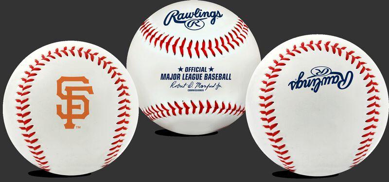 3 views of a MLB San Francisco Giants baseball