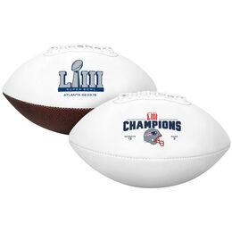 Super Bowl 53 Champions New England Patriots Full Size Football