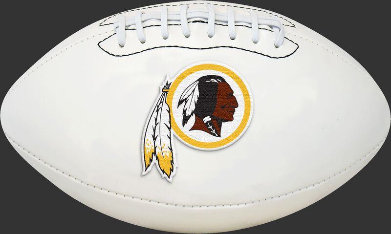 White NFL Washington Redskins Football With Team Logo SKU #06541087811