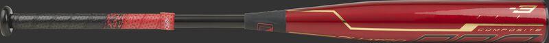 BBZQ3 2-piece composite BBCOR Quatro Pro bat with a red barrel and black handle/collar