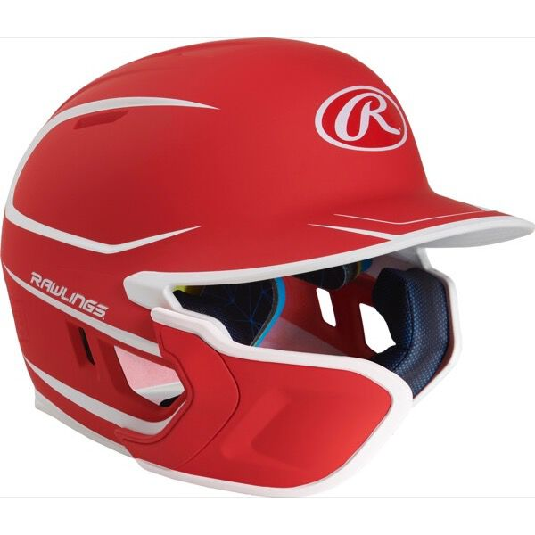 Mach Junior Two-Tone Matte Helmet with EXT Flap Scarlet