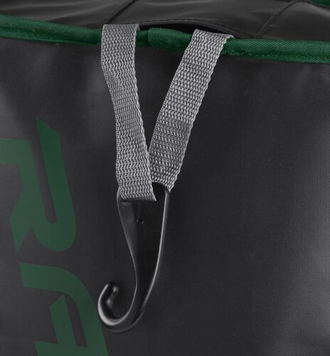 Exterior hanging hook on a dark green R601 Rawlings hybrid bag