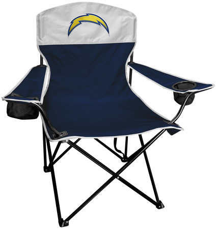 NFL Los Angeles Chargers Lineman chair with team colors and logo on the back