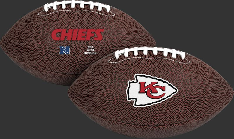 NFL Kansas City Chiefs Air-It-Out youth football with team logo SKU #08041071122
