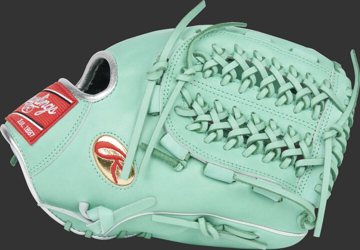 Thumb of an ocean mint Gameday 57 Series Marcus Stroman pro preferred glove with a Modified Trap-Eze web - SKU: PROS206-MSO