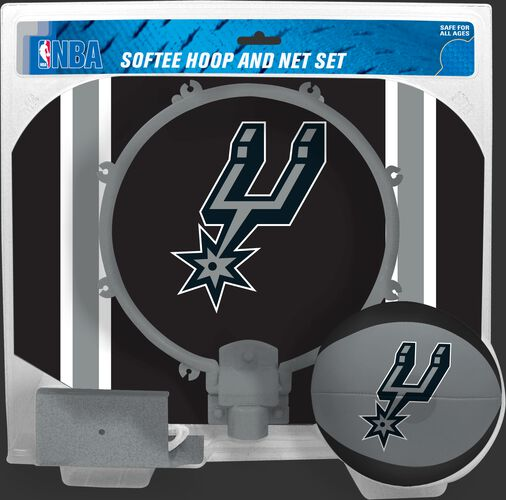 Rawlings Black and Grey NBA San Antonio Spurs Softee Hoop Set With Team Logo on Ball and Backboard SKU #03544212114