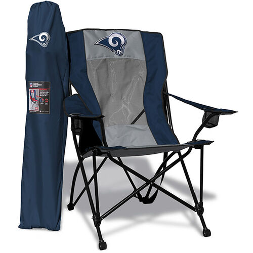 Front of Rawlings Silver and Navy NFL Los Angeles Rams High Back Chair With Team Logo SKU #09211073518