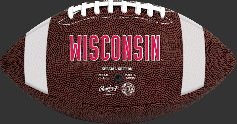 Brown NCAA Wisconsin Badgers Football With Team Name SKU #04623109811