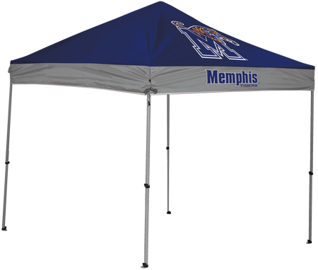 NCAA Memphis Tigers 9x9 canopy in team colors with a team logo printed on top