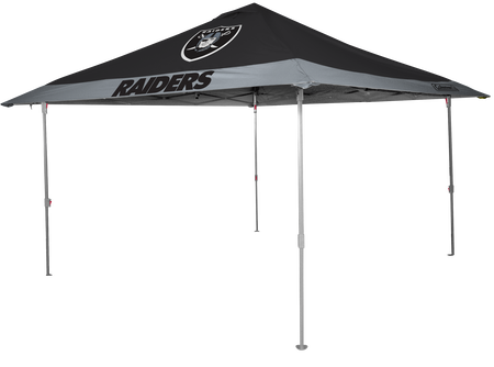 NFL Oakland Raiders 10x10 eaved canopy in team colors