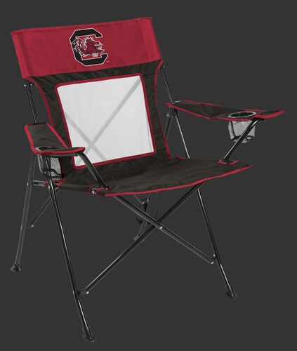 Front of Rawlings Garnet and Black NCAA South Carolina Gamecocks Game Changer Chair With Team Logo SKU #00643098111