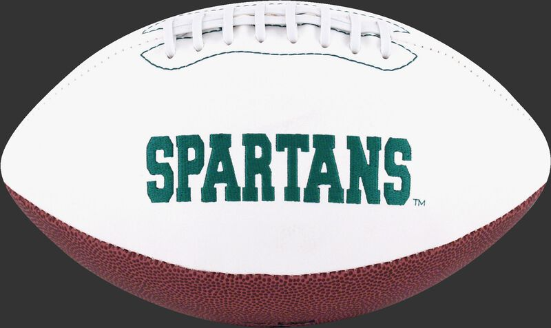 White NCAA Michigan State Spartans Football With Team Name SKU #05733038122
