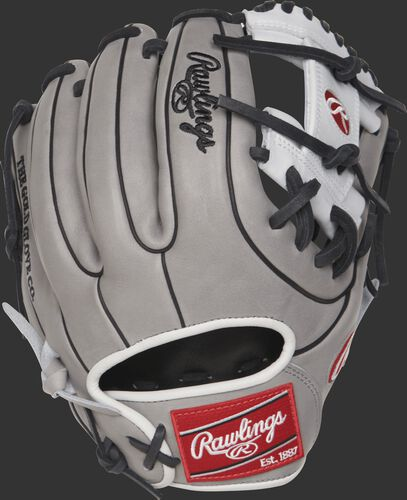 PRO716SB-2GW 11.75-inch Heart of the Hide softball infield glove with a grey back and black double-welting
