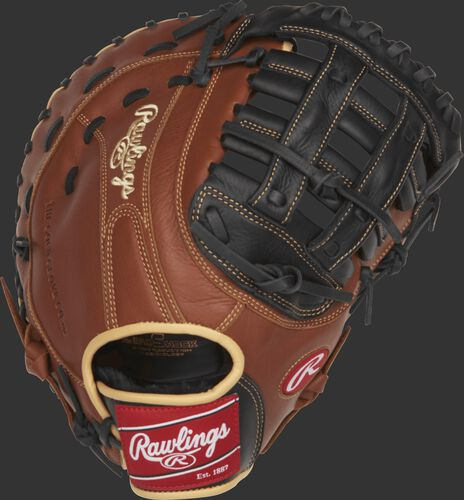SFM18 12.5-inch Sandlot Series first base mitt with a brown back