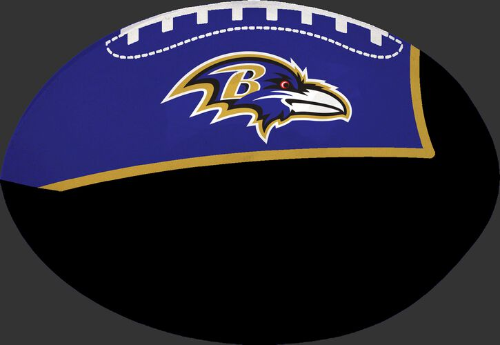 Black and Purple NFL Baltimore Ravens Football With Team Logo SKU #07831092114