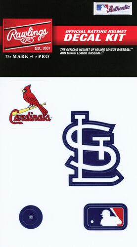 Rawlings MLB St Louis Cardinals Decal Kit With Team Logos and MLB Logo SKU #MLBDC-STL