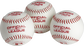 3 Official League Playmaker baseballs with red stamping and stitching - SKU: PMBBPK3 image number null